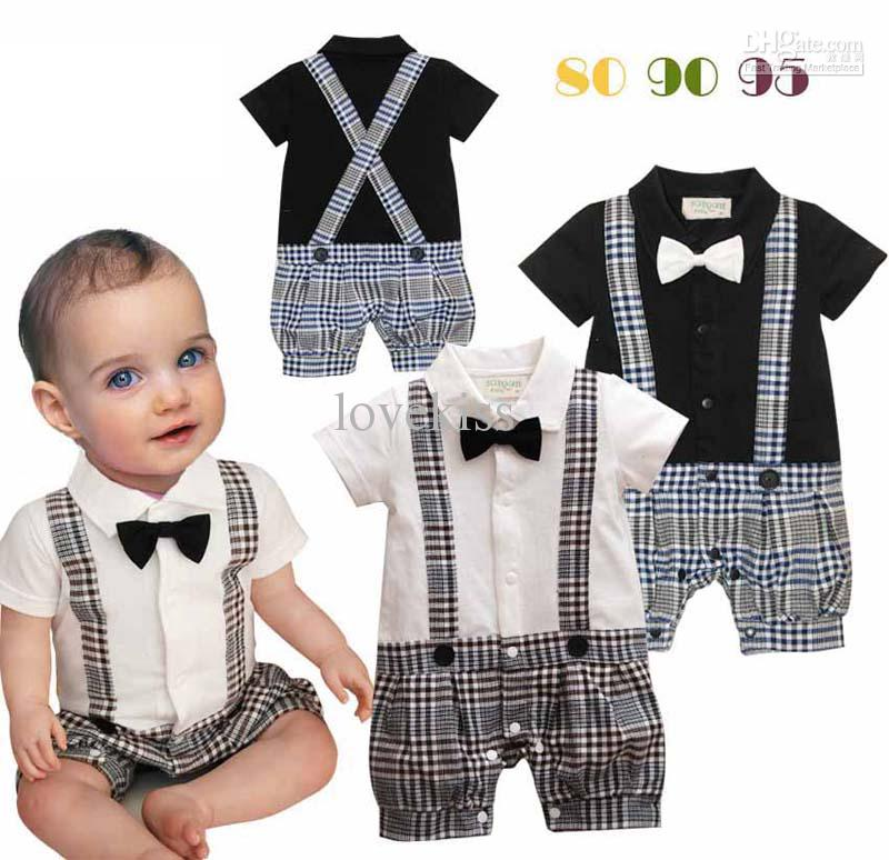 baby boy rompers infant boy rompers with bow-tie baby one piece romper kids climb clothes zkopgbf