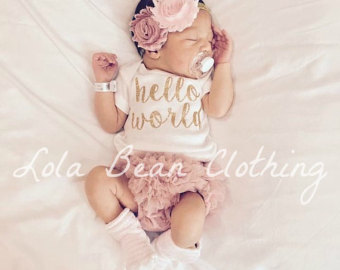 baby girl outfits baby girl coming home outfit take home outfit lolabeanclothing hello world  outfit uidwicf