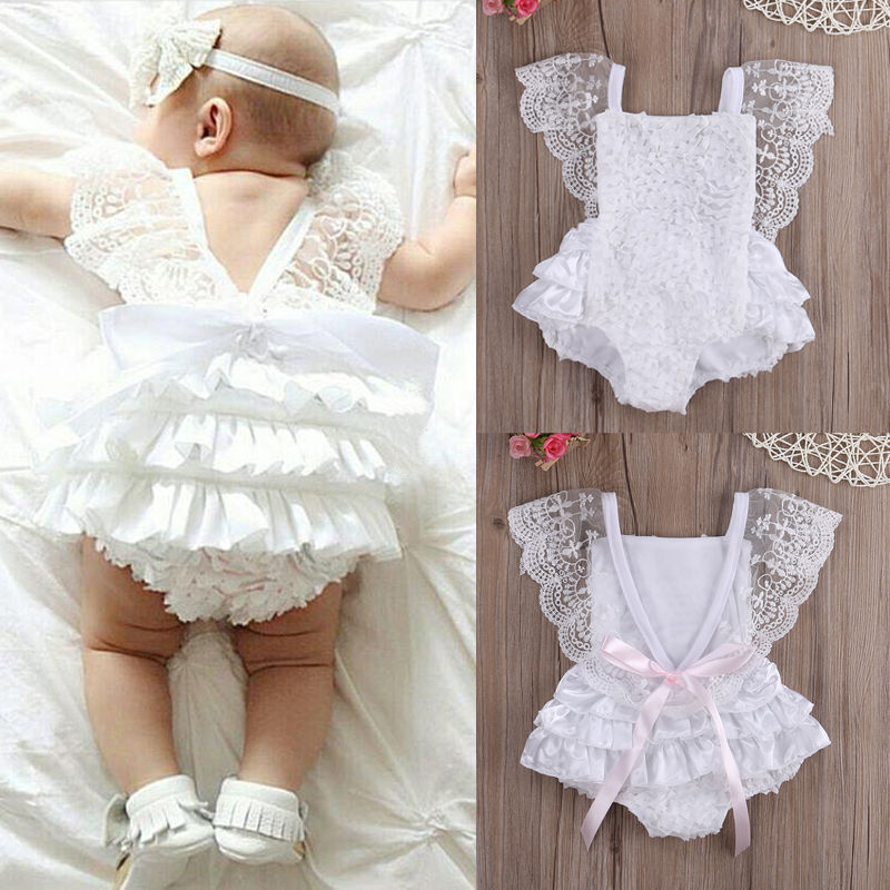baby girl rompers aliexpress.com : buy rompers infant baby girl clothes lace floral ruffles  tirred ifmhzsv
