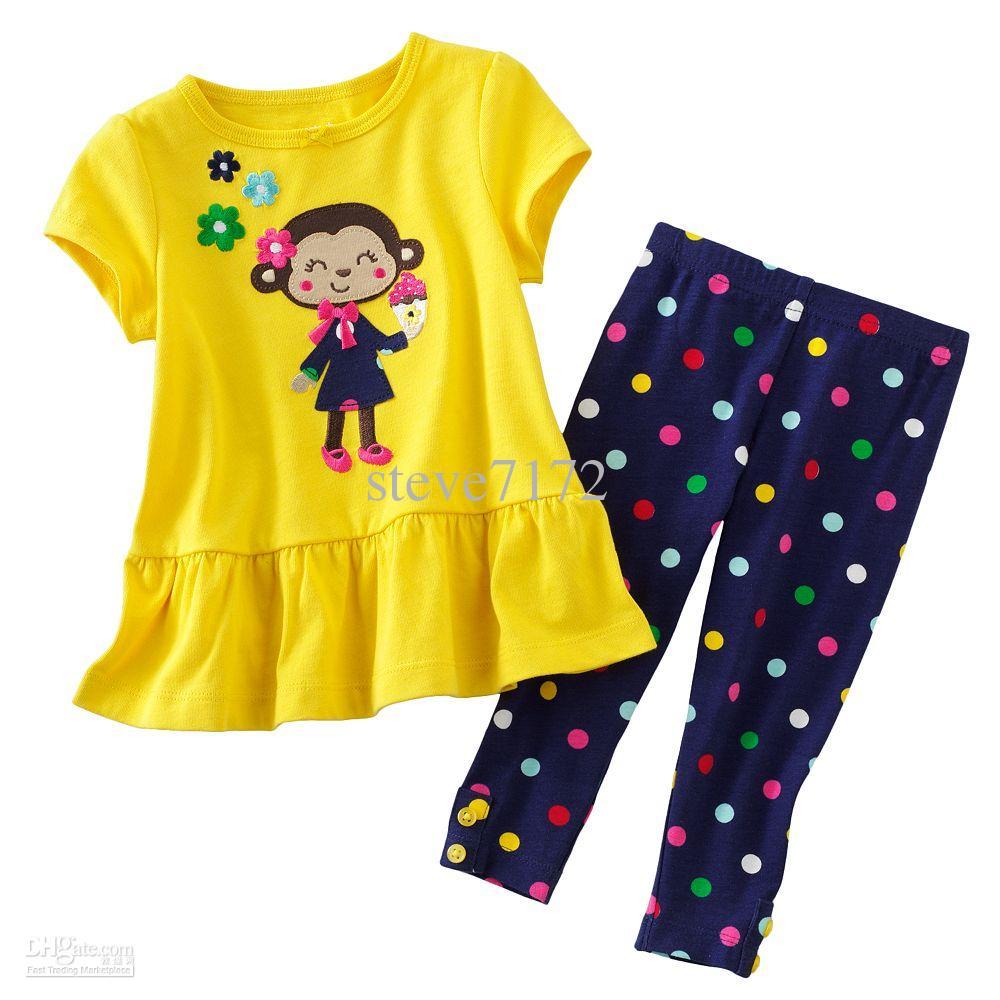 baby suits tracksuits sets yellow tshirts sweatshirts tees polka dot pants  trousers zcatsqo