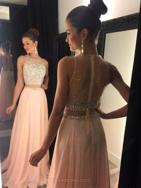 ball dresses exclusive a-line scoop neck chiffon tulle with beading sweep train ball  dresses hphxxca