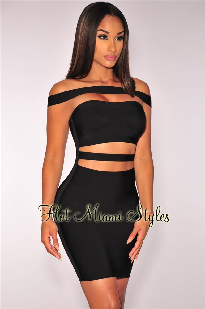 bandage dresses black off shoulder straps bandage dress wxdowfm