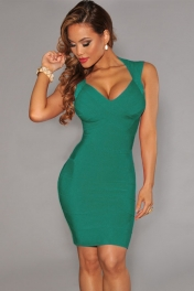 bandage dresses green crisscross bust bandage dress taijypb