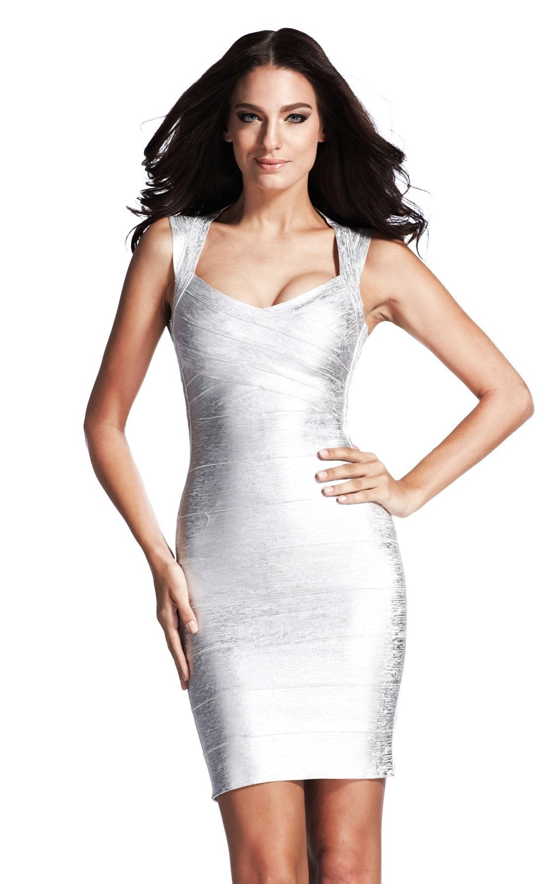 bandage dresses silver metallic bandage dress ... bdfisrz