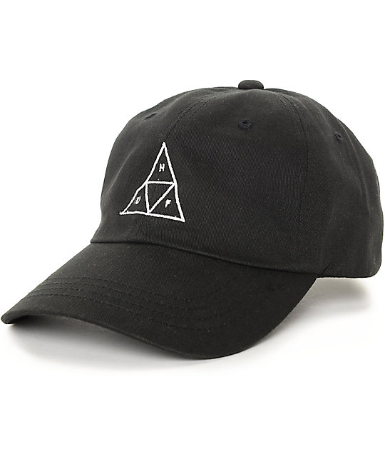 baseball caps huf triangle black baseball strapback hat axjwrok