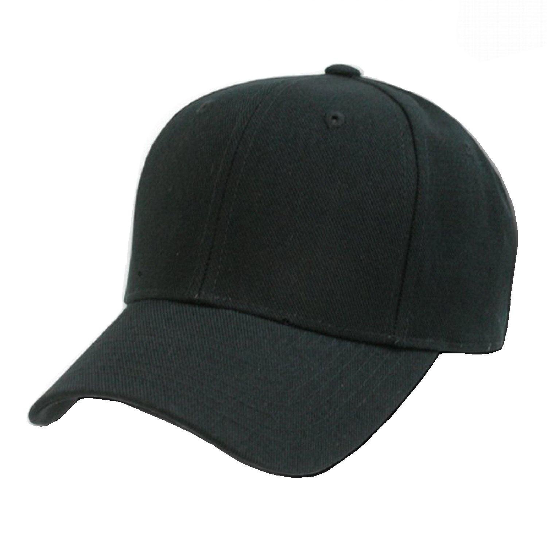 baseball hat amazon.com: plain baseball cap blank hat solid color velcro adjustable 13  colors whzcrli