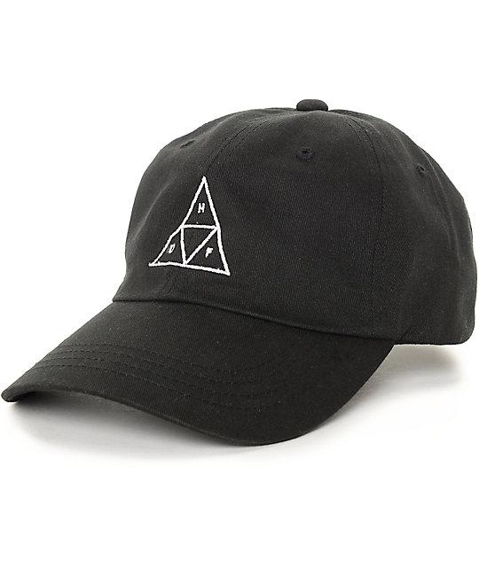 baseball hat huf triangle black baseball strapback hat szmfdkw