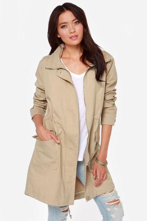 bb dakota clio - beige coat - beige parka - oversized coat - eirhkld