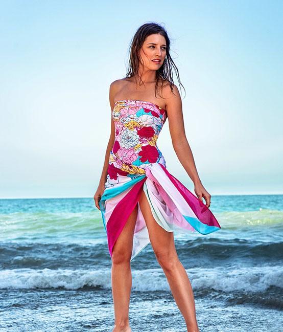 beach wear manuel canovas paris - woman or ladies swimwear, swimsuit, bathing suit,  beachwear, cgbczzo