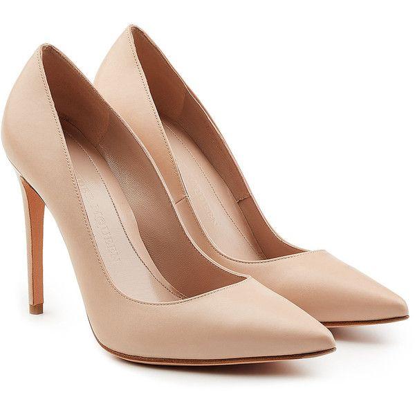 beige heels alexander mcqueen leather pump (12 800 uah) ❤ liked on polyvore featuring cjynrou
