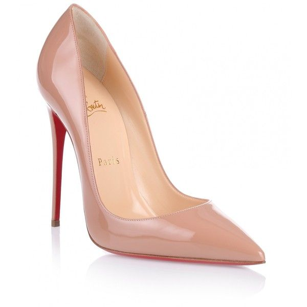 beige heels christian louboutin so kate 120 nude patent pump ($675) ❤ liked on polyvore kuymmrn