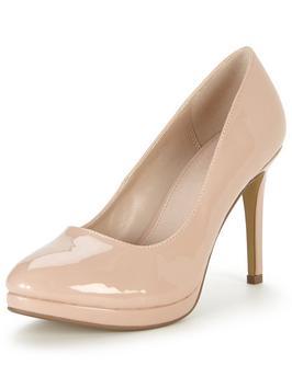 beige heels v by very maddy mid heel platform court shoe rfjeirf