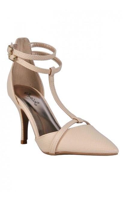 beige pumps, beige t strap pumps, beige pointed toe pumps, cute beige heels knyzejm
