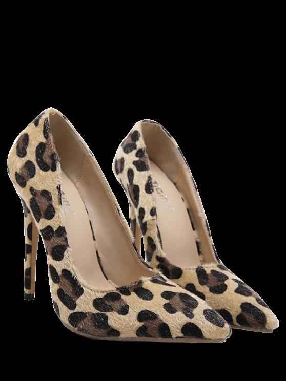 best mini heel leopard print pointed toe pumps - leopard 38 qeozacy