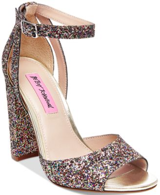 betsey johnson shoes betsey johnson glissten two-piece sandals cjilvip