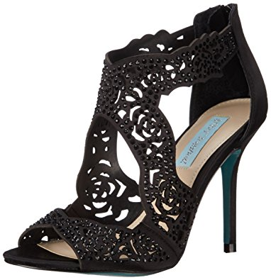 betsey johnson shoes blue by betsey johnson womenu0027s sb-livie dress sandal, black satin, ... yervflc