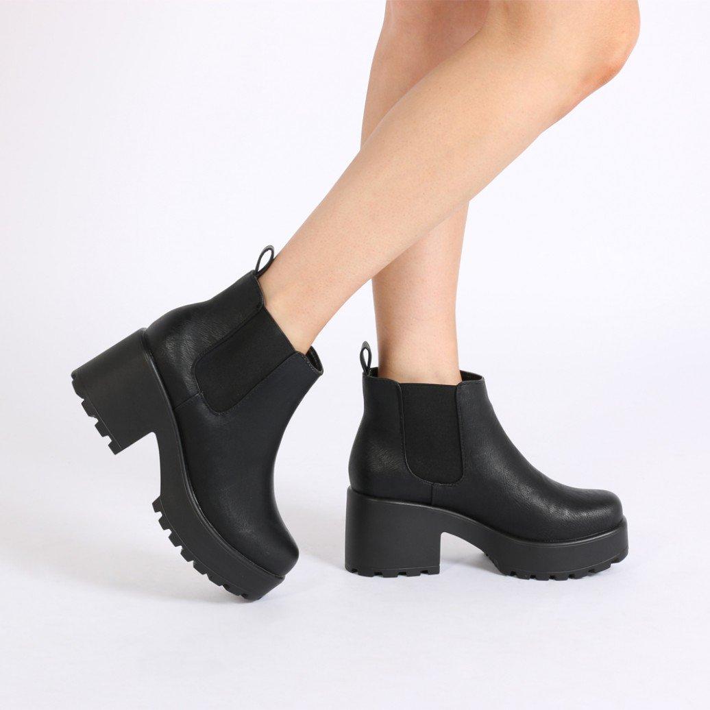 aria black ankle boots famfewf
