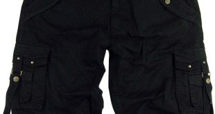 mens black cargo shorts military #a8s size:30 bclfdgd