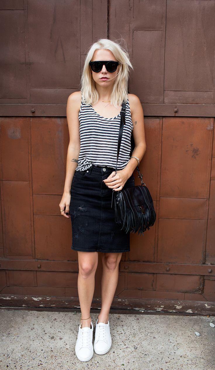 black denim skirt 15 charming outfit ideas for a casual first date. black denim skirtblack ... fflcogu