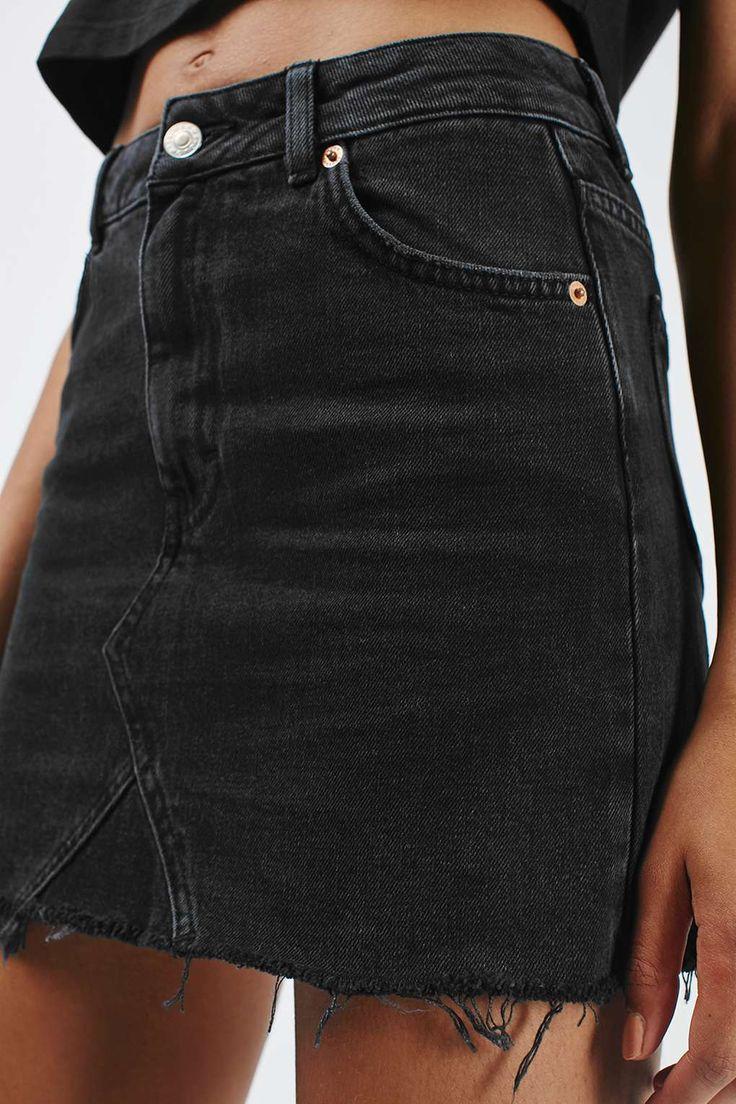 black denim skirt moto highwaist short skirt eghsosp