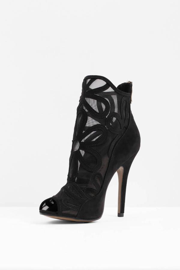 black peep toe heels ... chinese laundry chinese laundry jaiden black peep toe booties ... ugdrgxn