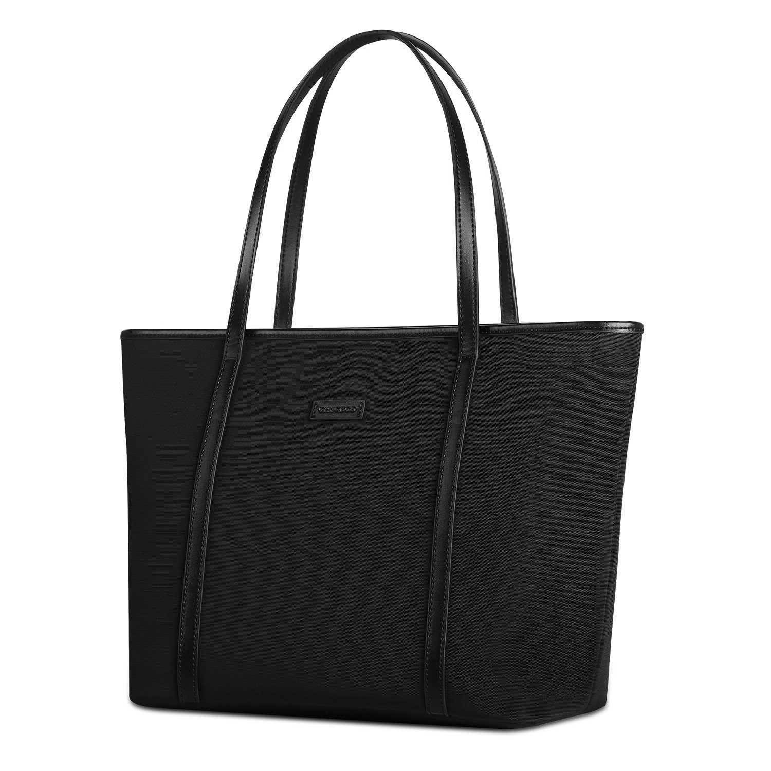 black shoulder bag chiceco basic 14-inch laptop work tote bag for women - oxford nylon / ijeclfh