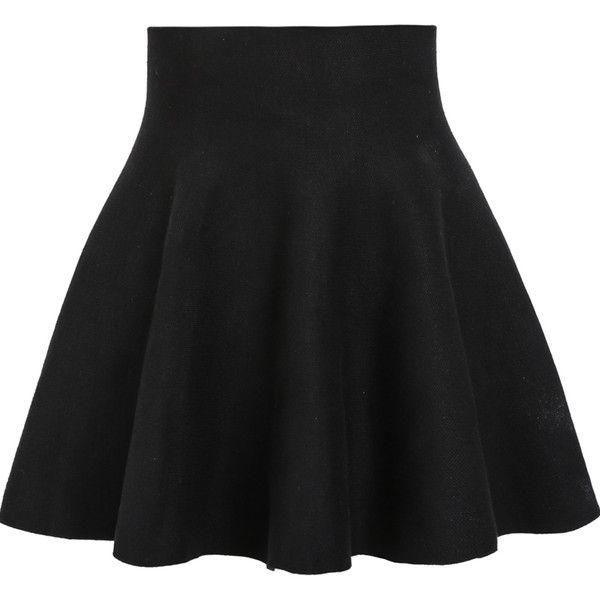 black skirt high waist ruffle skirt ($11) ❤ liked on polyvore featuring skirts, bottoms, vpbzurp