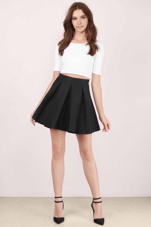 black skirt ... myah pleated black skater skirt rgtaemr