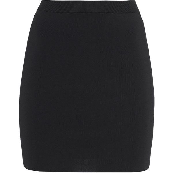 black skirt t by alexander wang fitted pencil black stretch mini skirt found on polyvore uxzzcik