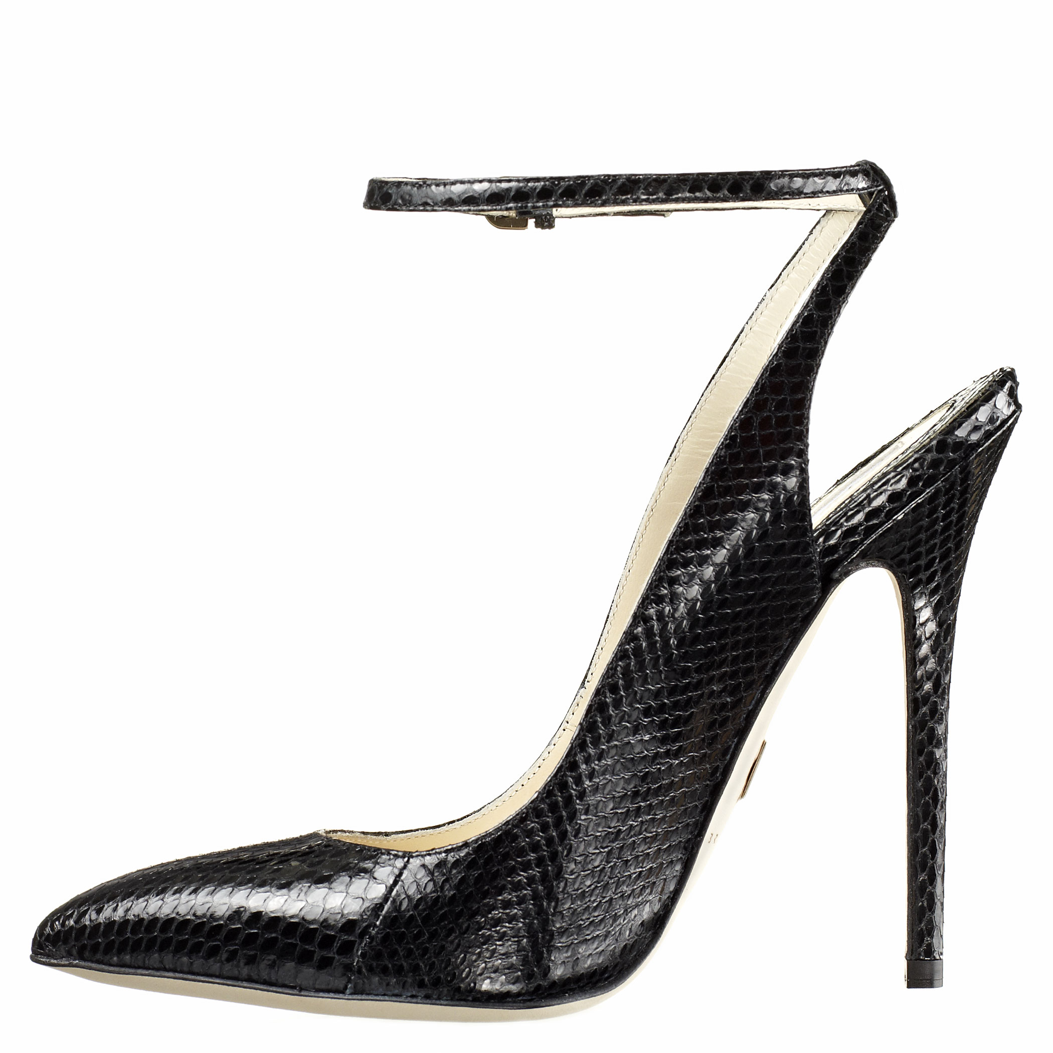 black snake print ankle strap pointed toe pumps hcrpmhr