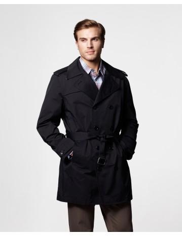 black trench coat essex short trench coat. dark khaki; black frokemb