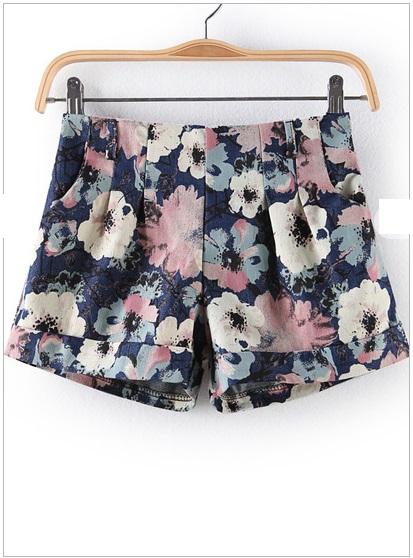 blue floral shorts oxgiujz