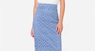 blue pencil skirt 1 pouawos