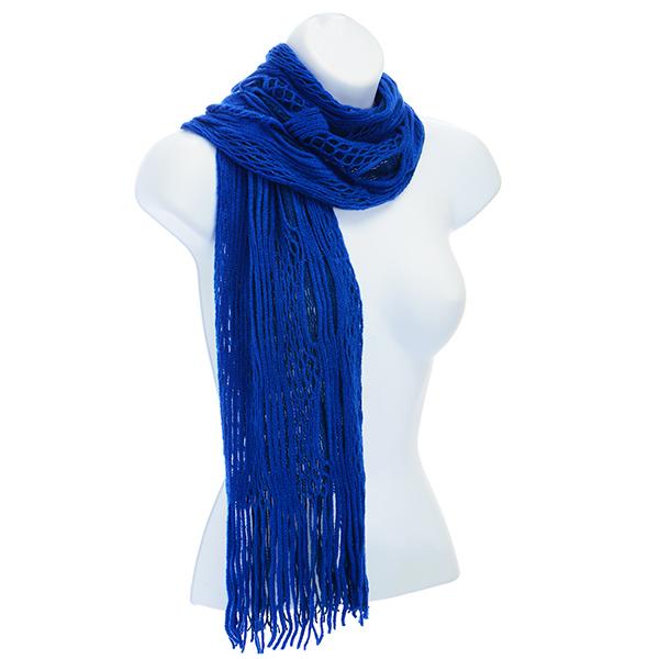 blue scarf - open knit urnqlbl
