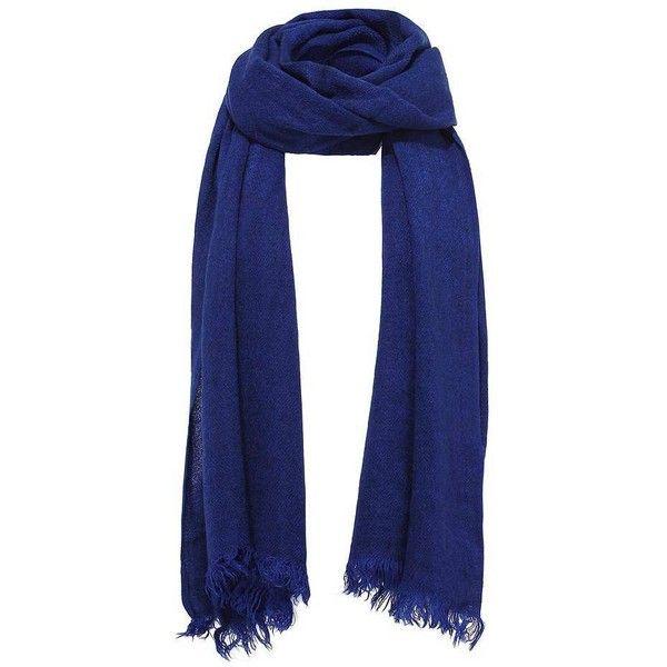 blue scarf yoins wrap scarf featuring polyvore, fashion, accessories, scarves, blue,  scarves u0026 mibymqt