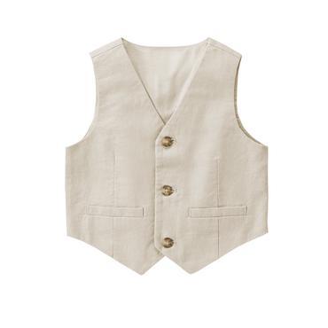 boys vest toddler boys light khaki linen vest by gymboree njrvuwq