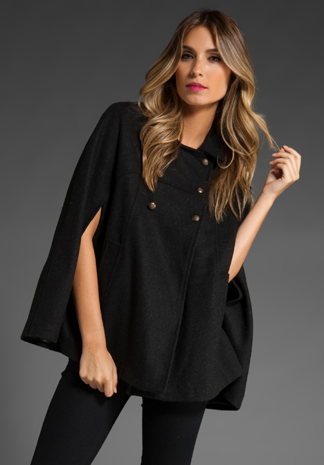 brandy u0026 melville cape jacket in black at revolve clothing - free shipping! poxjzed