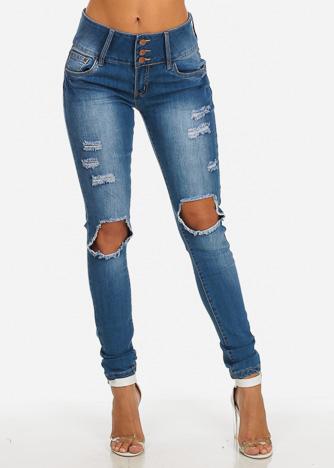 brazilian jeans brazilian levanta cola butt lift distressed mid rise skinny jeans vszjtlm