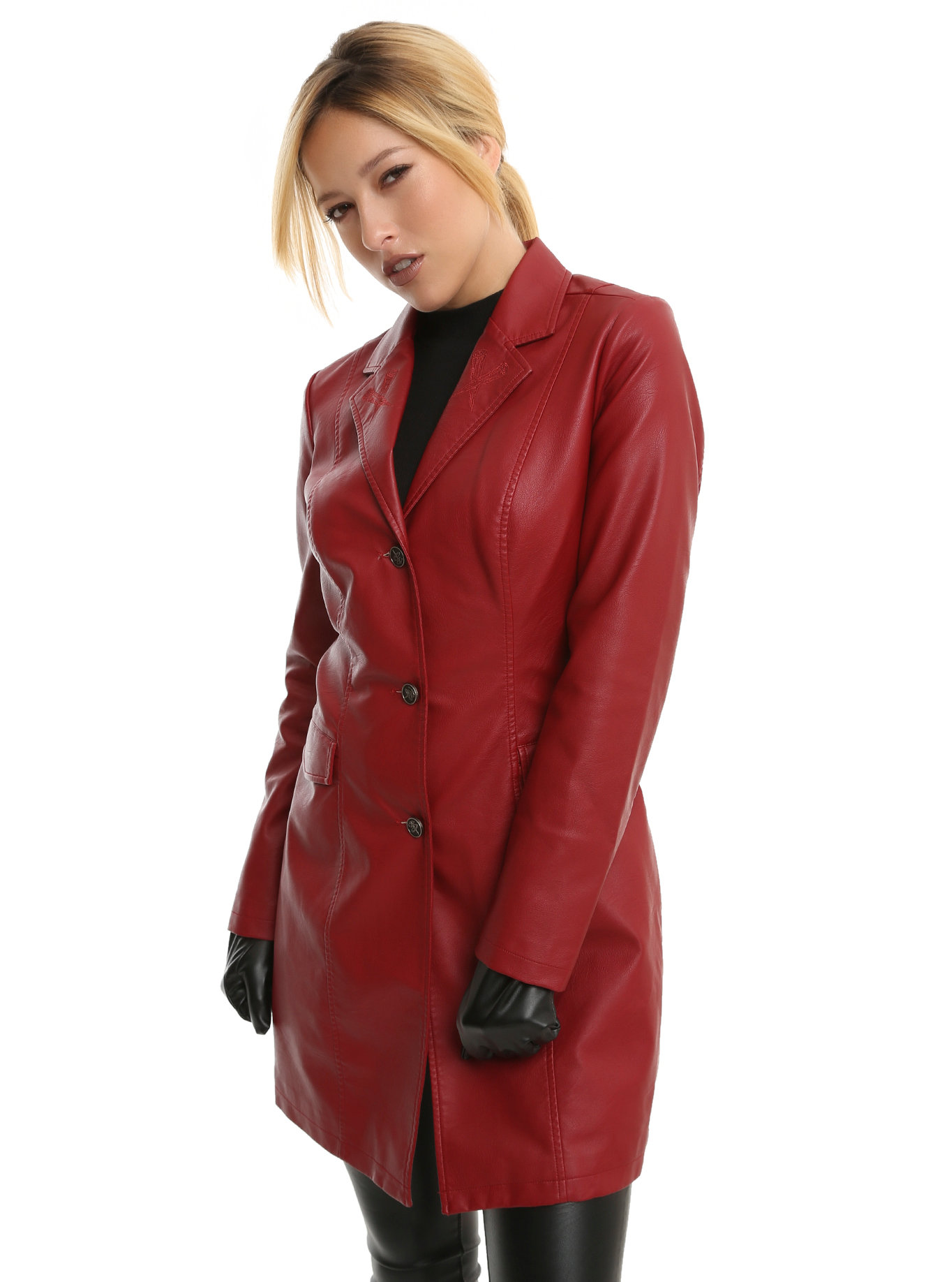 buffy the vampire slayer red trench coat, red, hi-res. loading zoom ujkvxhw