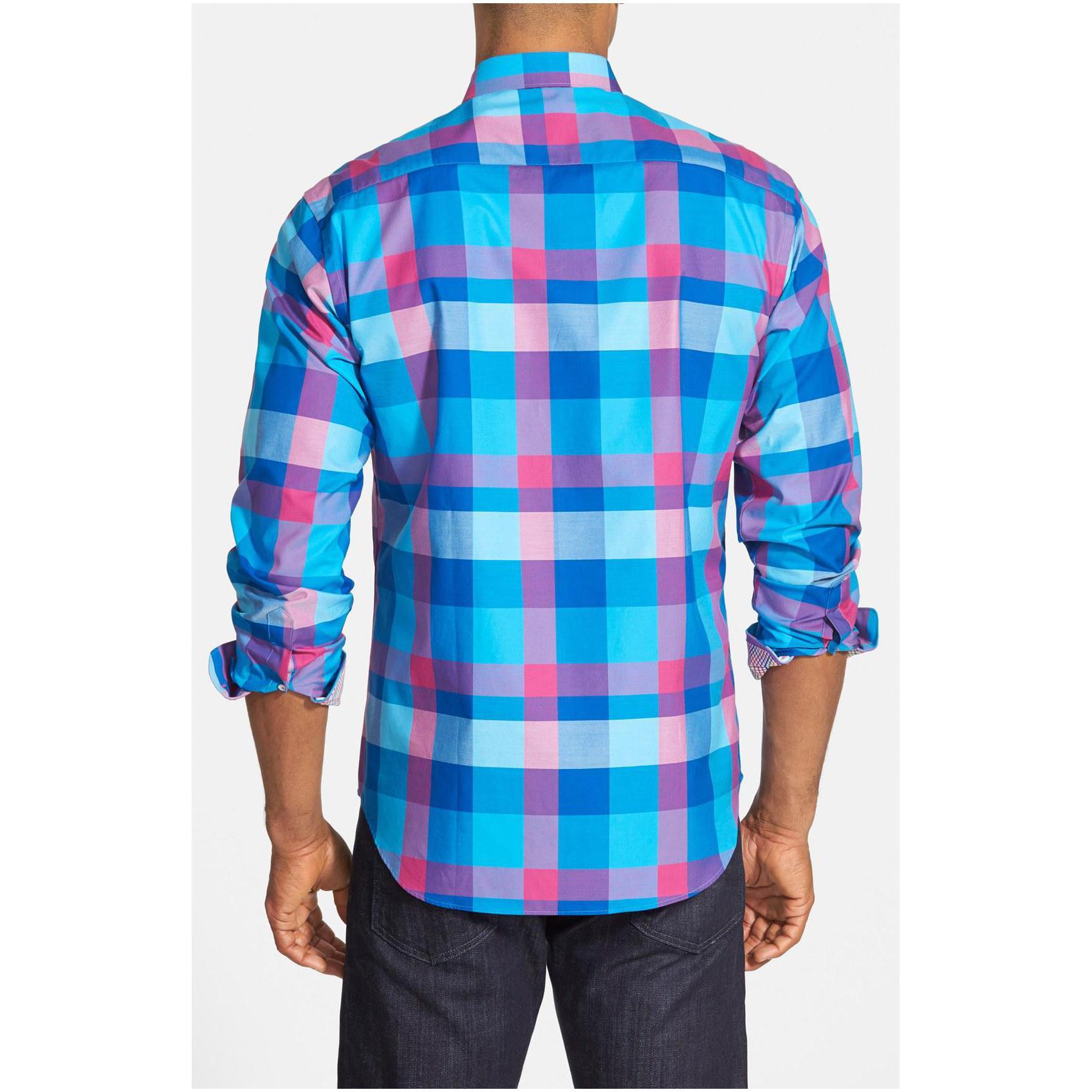 bugatchi shirts bugatchi menu0027s shaped fit check sport shirt ppsyqfh