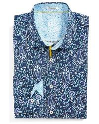 bugatchi shirts ... bugatchi shaped fit paisley sport shirt ... xebnrgu