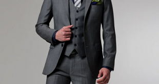 business suits for men grey tailor made double breast notch lapel pinstripes polyester 3 pieces men akgroul