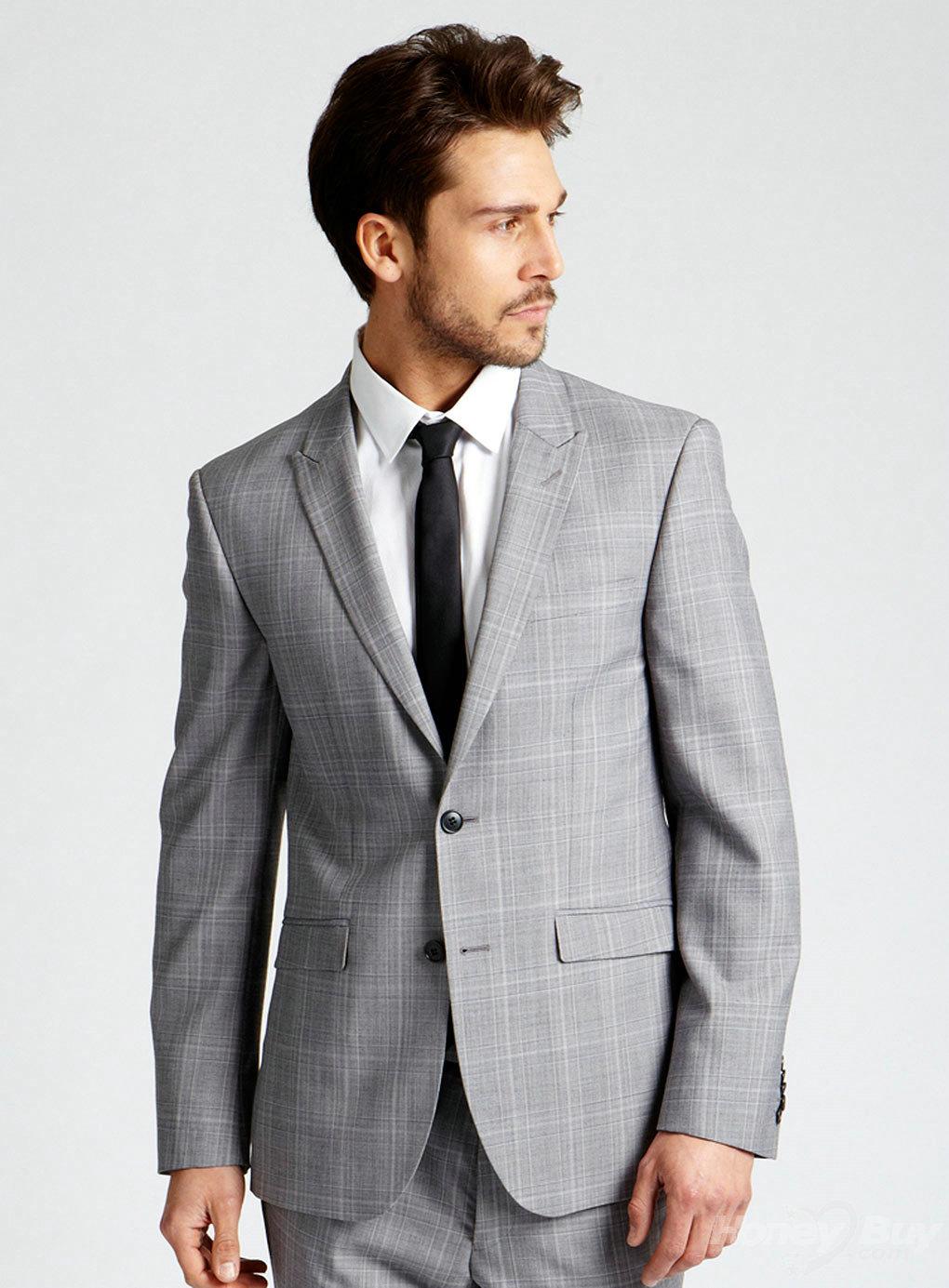 business suits for men stylish peak lapel plaid men suits haswkdi