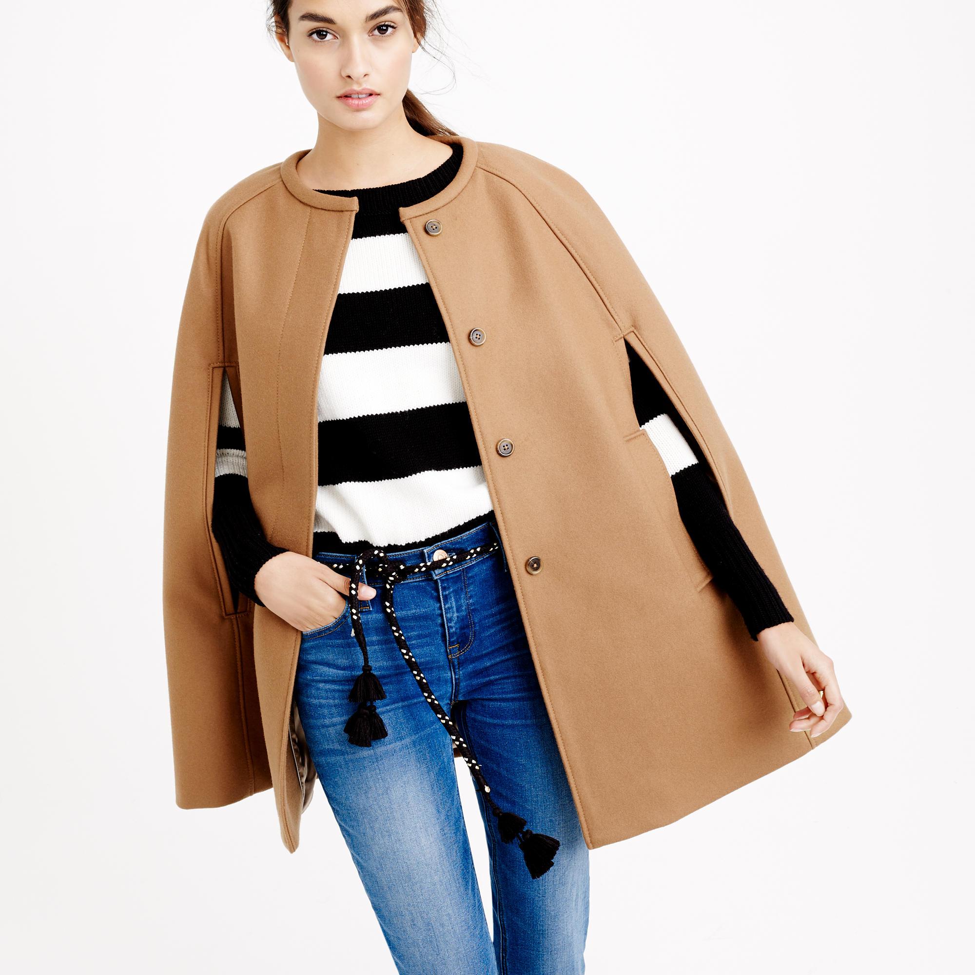 cape jacket in wool melton ... tndawsx