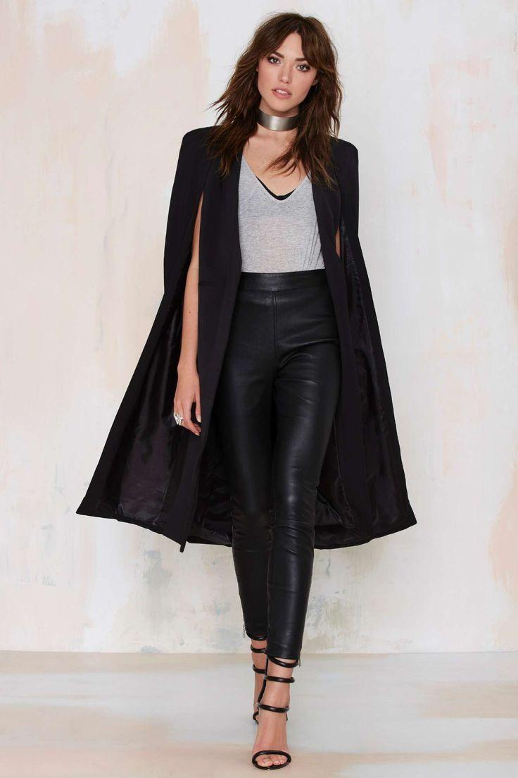 cape jacket real slick coated leggings. lavish alicecape jacketcape ... yujwfye