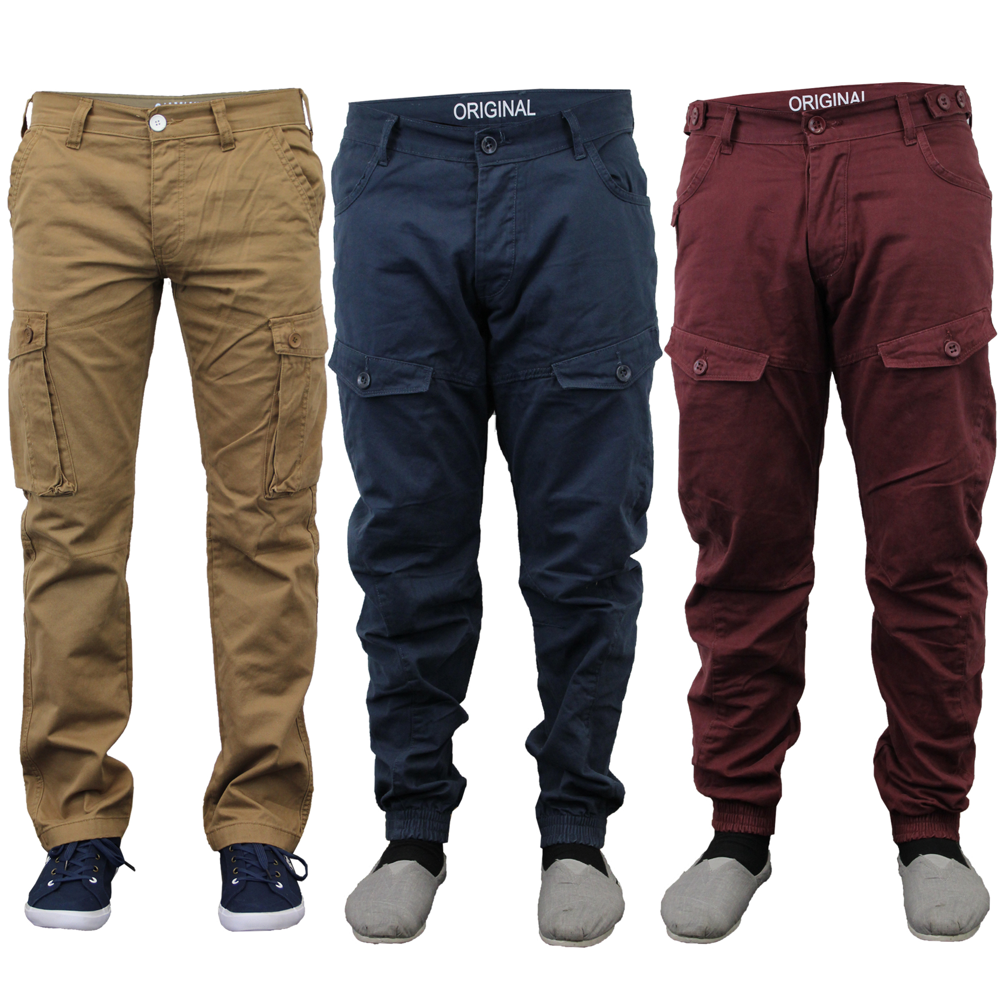 cargo jeans mens-jeans-chino-style-cargo-pants-denim-cuffed- osjkmrm