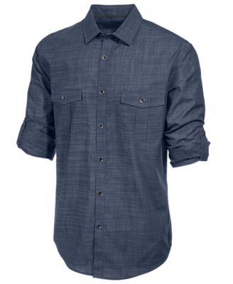 casual shirts for men alfani menu0027s long sleeve warren shirt, created for macyu0027s mvrzoyj