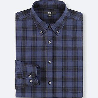 casual shirts for men men extra fine cotton broadcloth long-sleeve shirt, blue, medium mvswbip