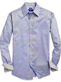 casual shirts for men mens casual shirts, clothing - egara yellow u0026 blue check sport shirt - ptlfnot