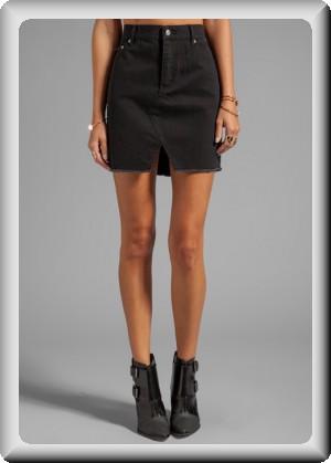 cheap monday womenu0027s black denim skirt kcizzlw